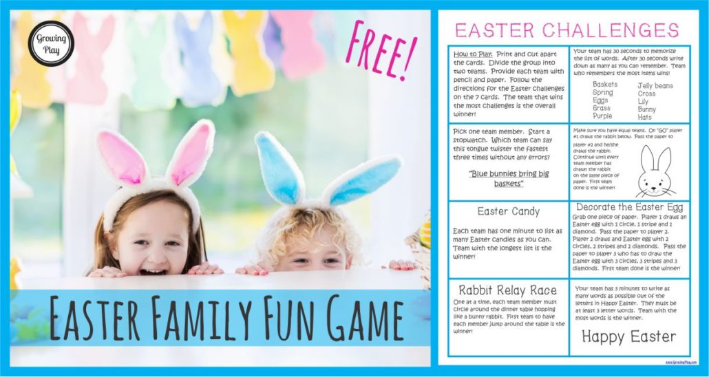 Easter Challenges Family Fun Game