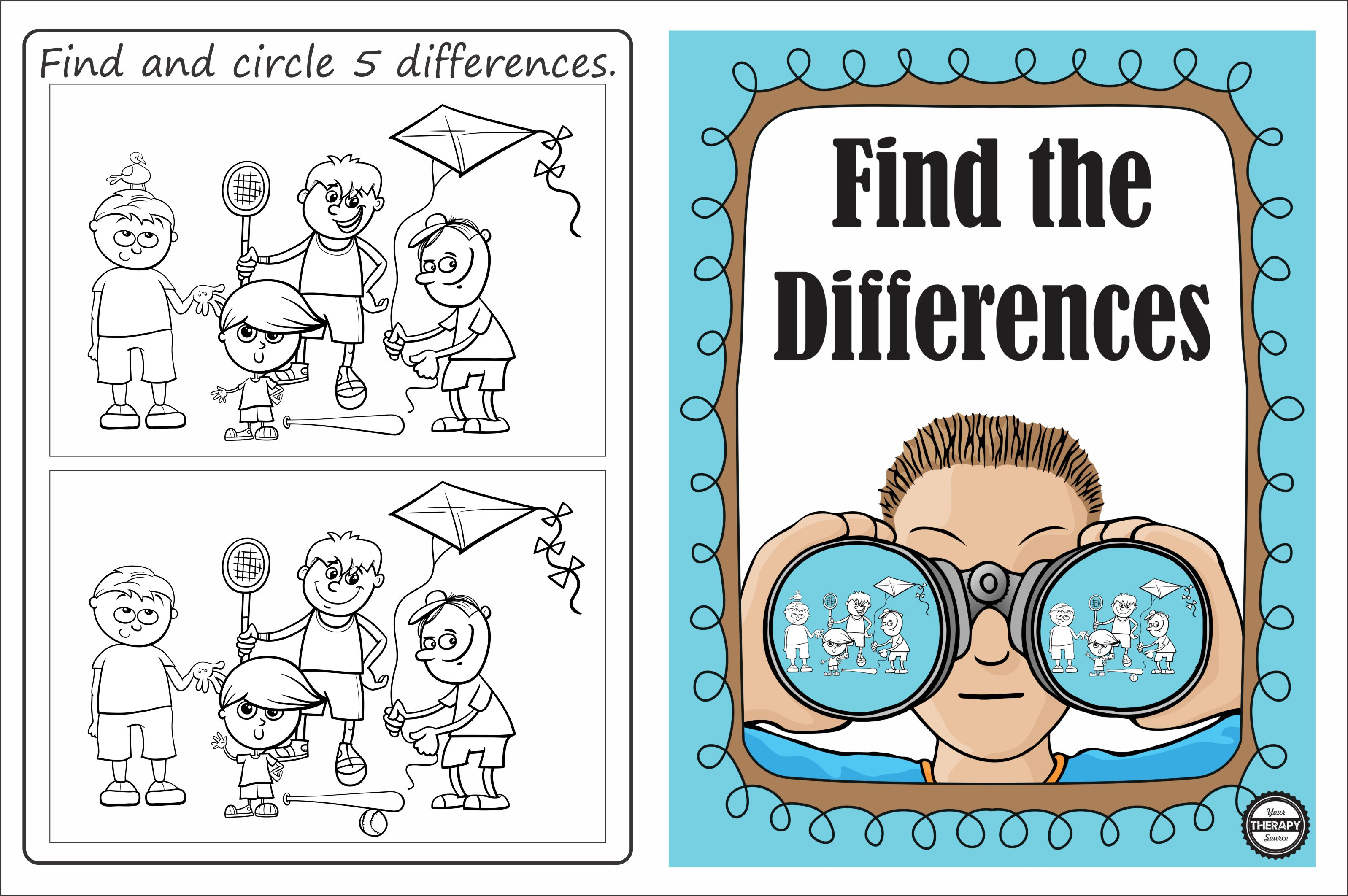 Find the Differences Freebie
