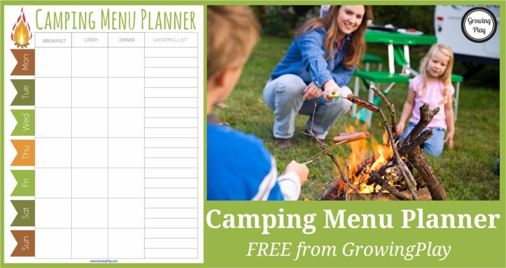 Camping Menu Planner FB