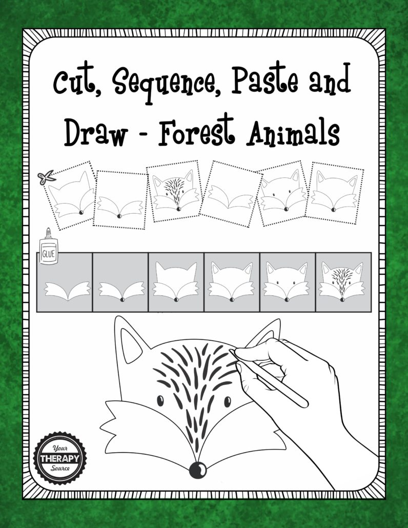 Cut Sequence Draw Forest Animals