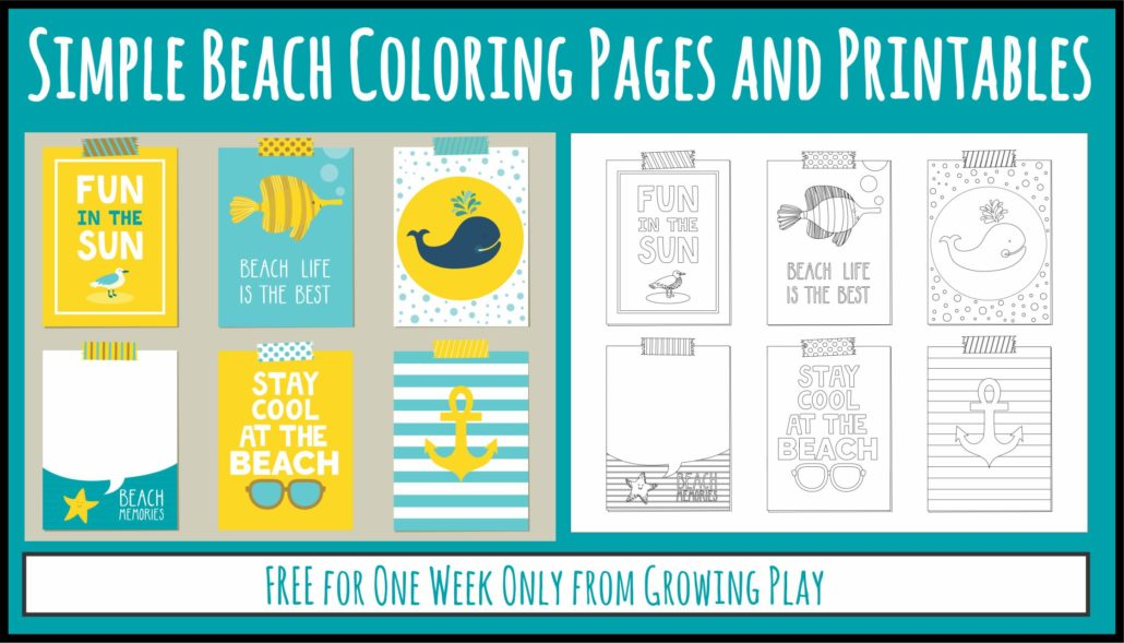 Simple Beach Coloring Pages FB