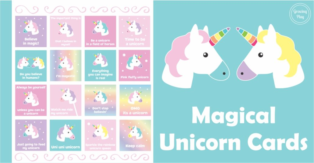 photo regarding Be a Unicorn in a Field of Horses Free Printable named Magical Unicorn Playing cards + 4 Recreation Suggestions - Escalating Enjoy