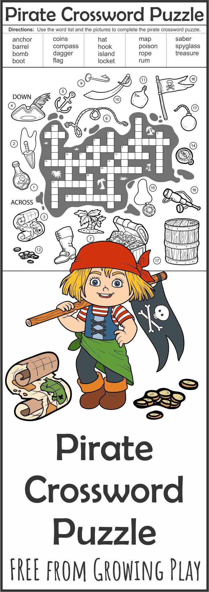 Pirate Crossword Puzzle