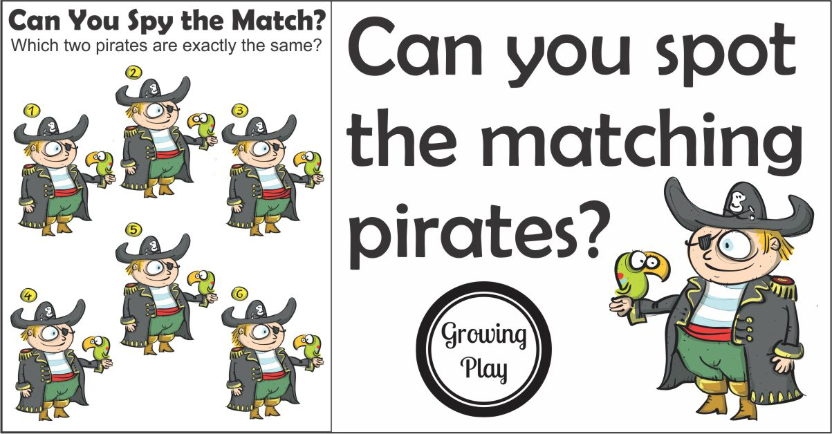 Pirate Matching Puzzle