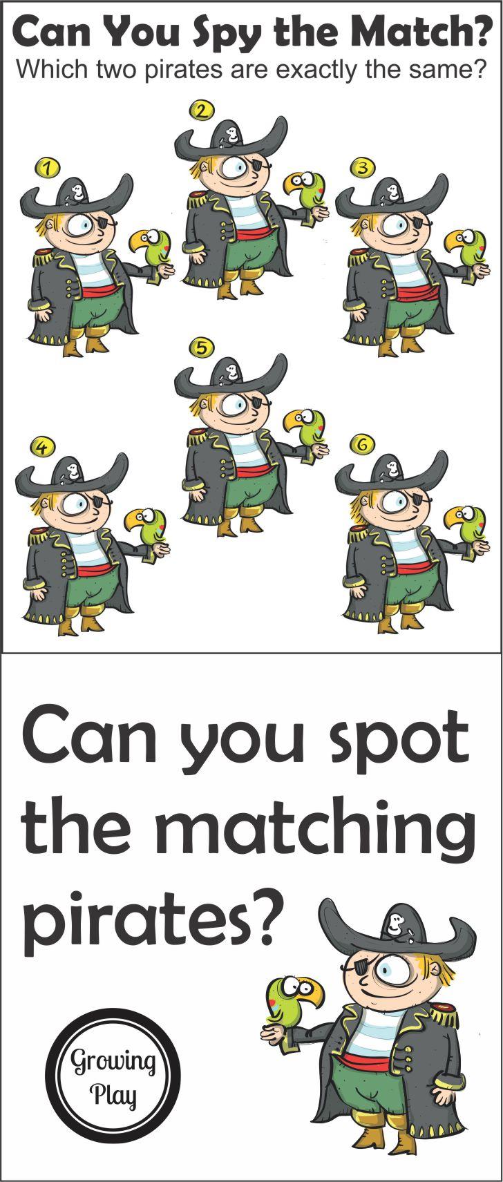 Matching Pirate Puzzle