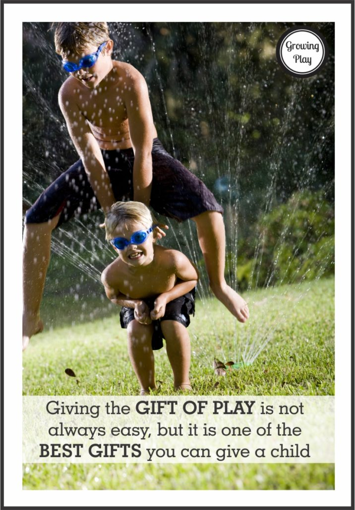 Giving the Gift of Play is not easy