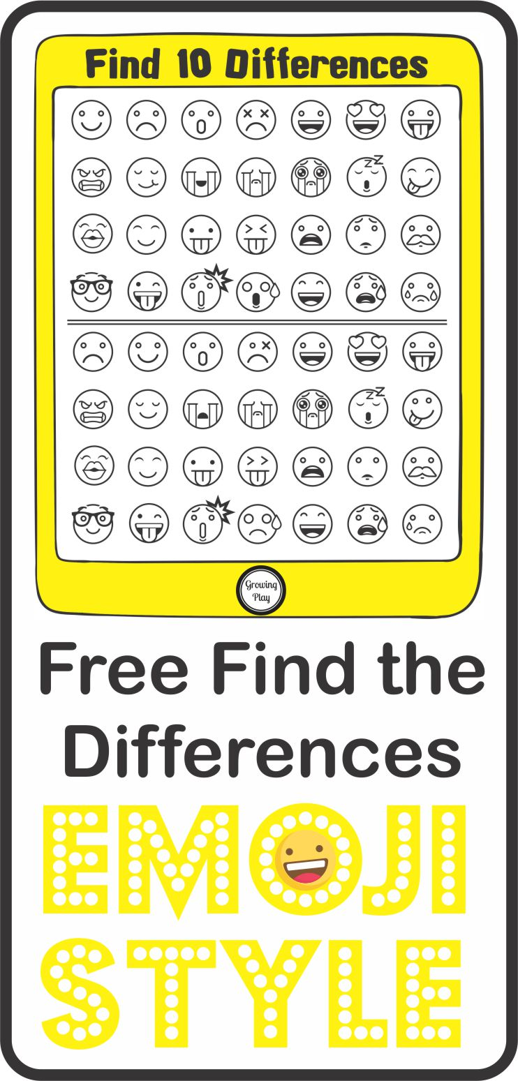 Find the Differences Emoji Style