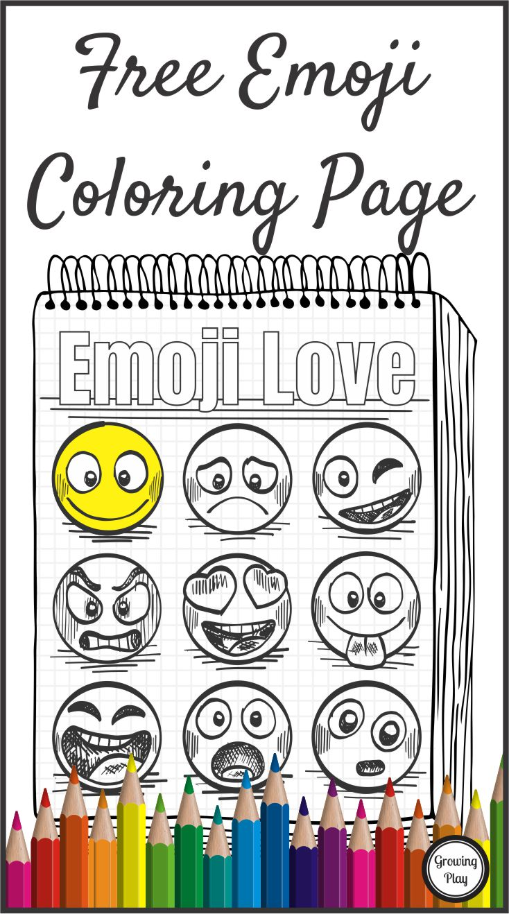 Emoji Coloring Page Free from Growing Play - Growing Play