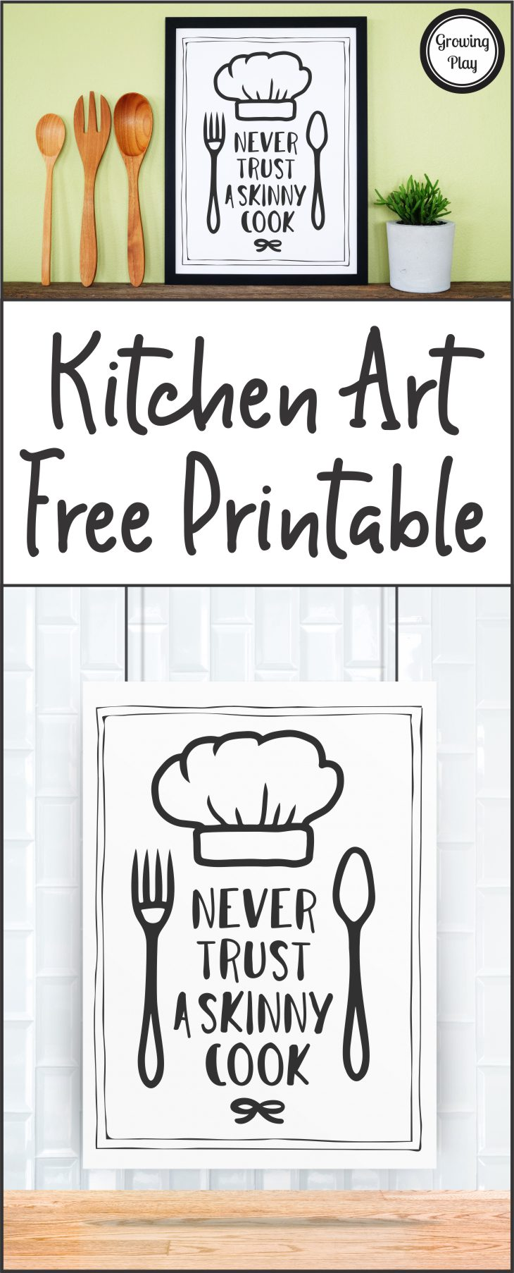 photo relating to Free Printable Kitchen Art identified as Enjoyment Kitchen area Artwork Freebie - Playtime inside of the Kitchen area - Developing Engage in