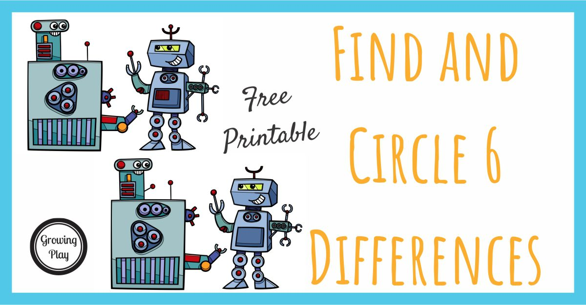 Robot find the differences puzzles growing play robot find the differences thecheapjerseys Images
