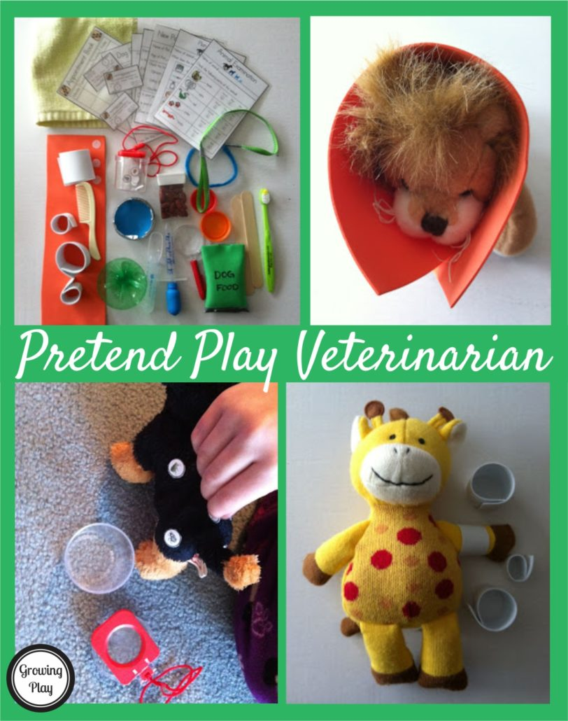 Pretend Play Veterinarian Ideas from Growing Play