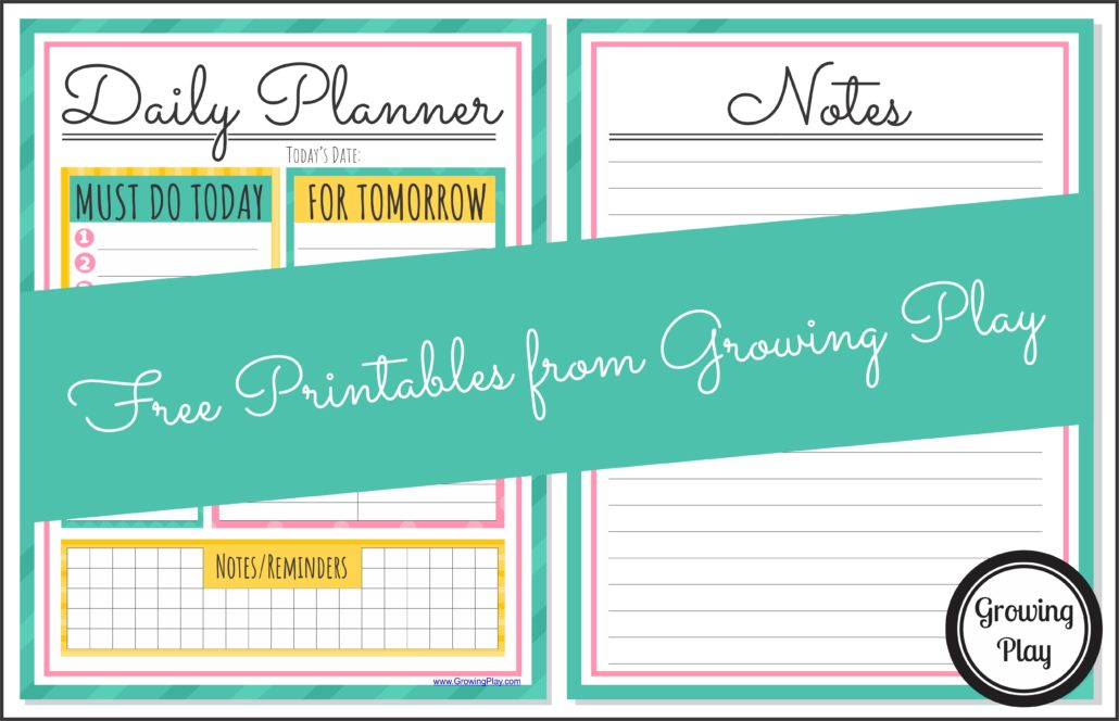 Get Organized with a Daily Planner