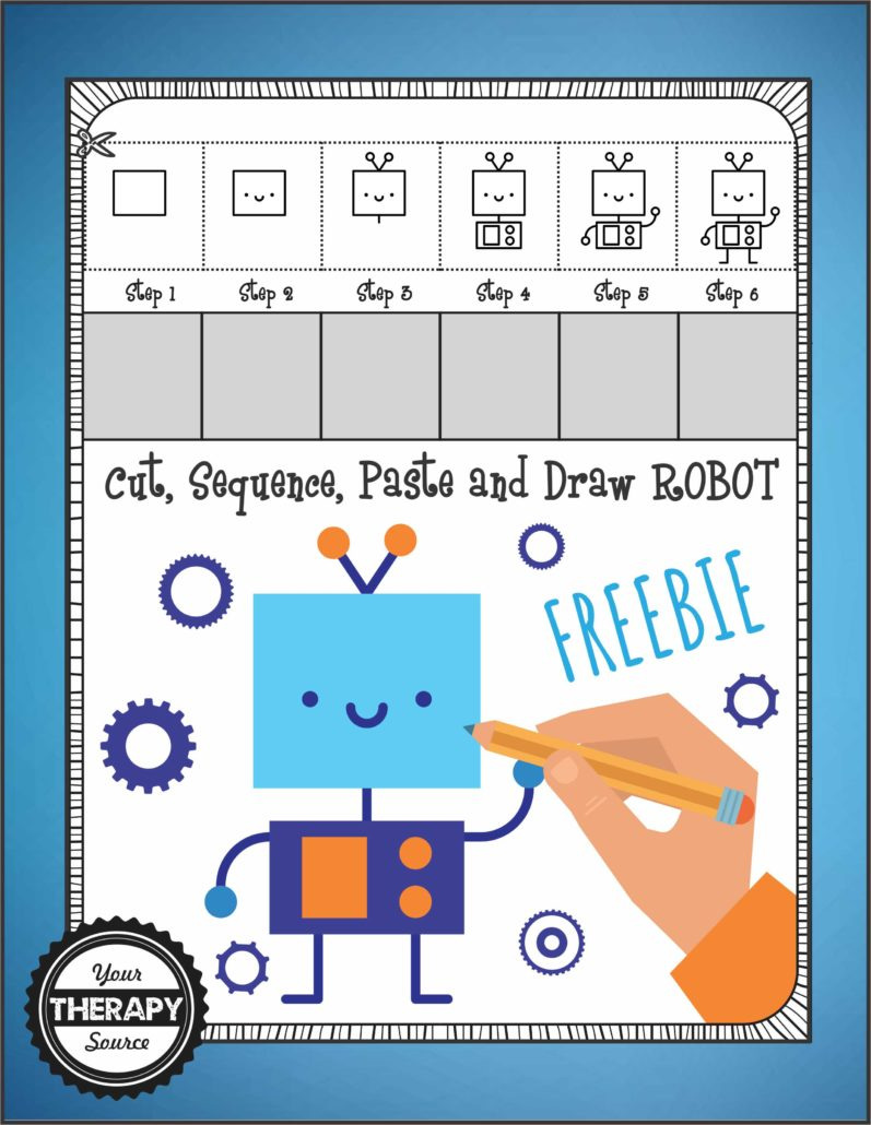 Draw Robot Freebie from Growing Play
