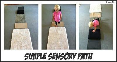 Toddler Time – Simple Sensory Path