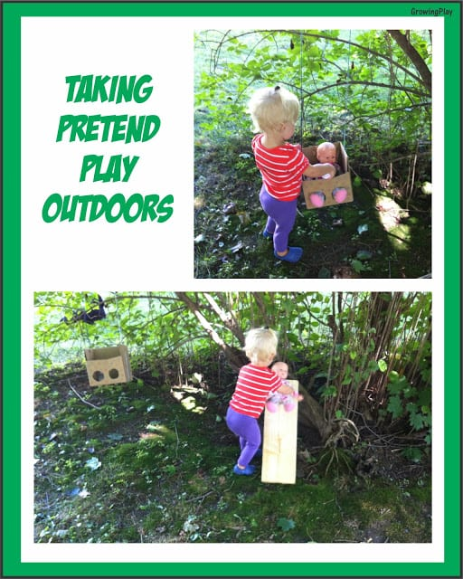 pretend play outdoors