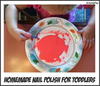 "Homemade ""Nail Polish"" for Toddlers"