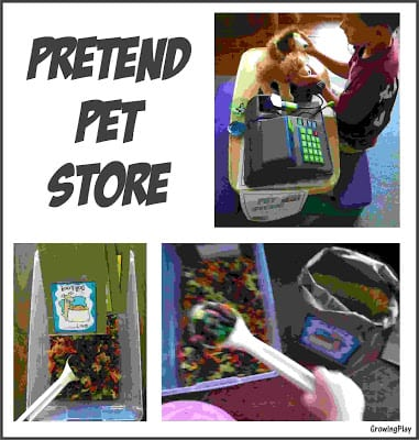 Playing Pretend Pet Store
