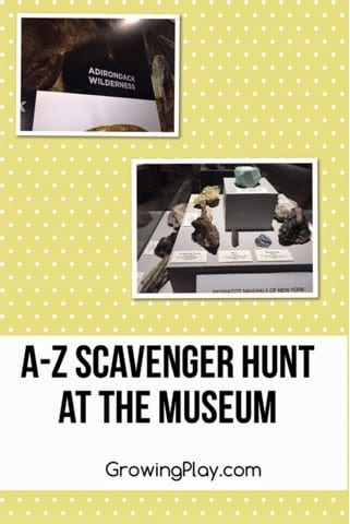 A to Z Scavenger Hunt at Museum