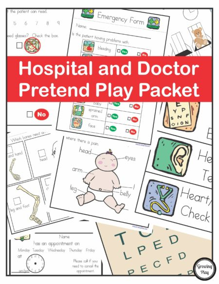 Hospital and Doctor Pretend Play Packet