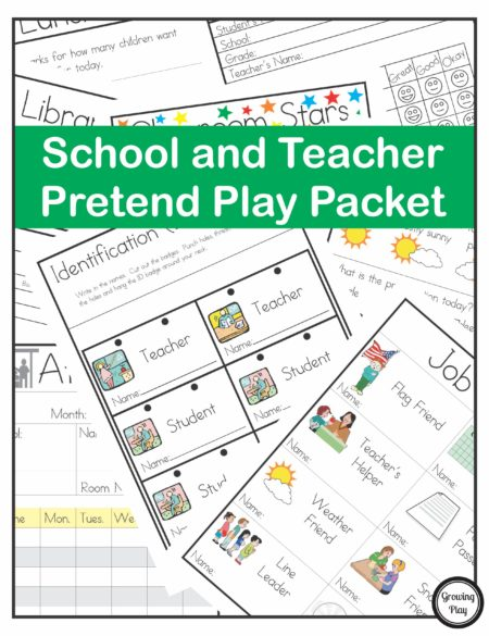 School and Teacher Pretend Play Packet