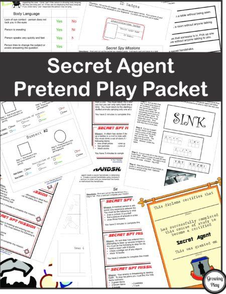 Secret Agent Pretend Play Packet