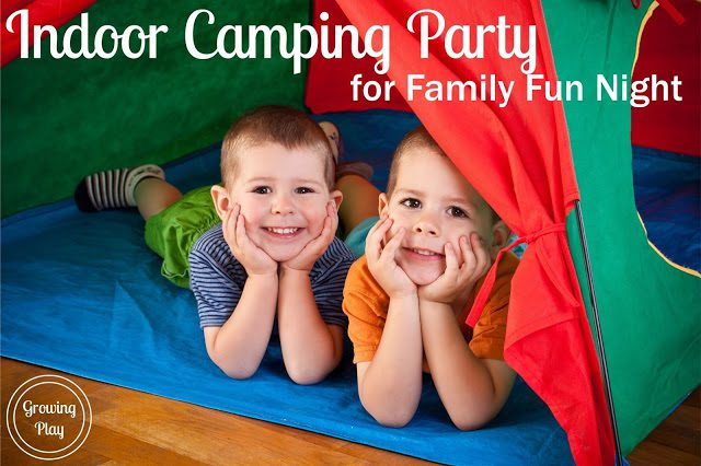 Indoor Camping Party For Family Fun Night