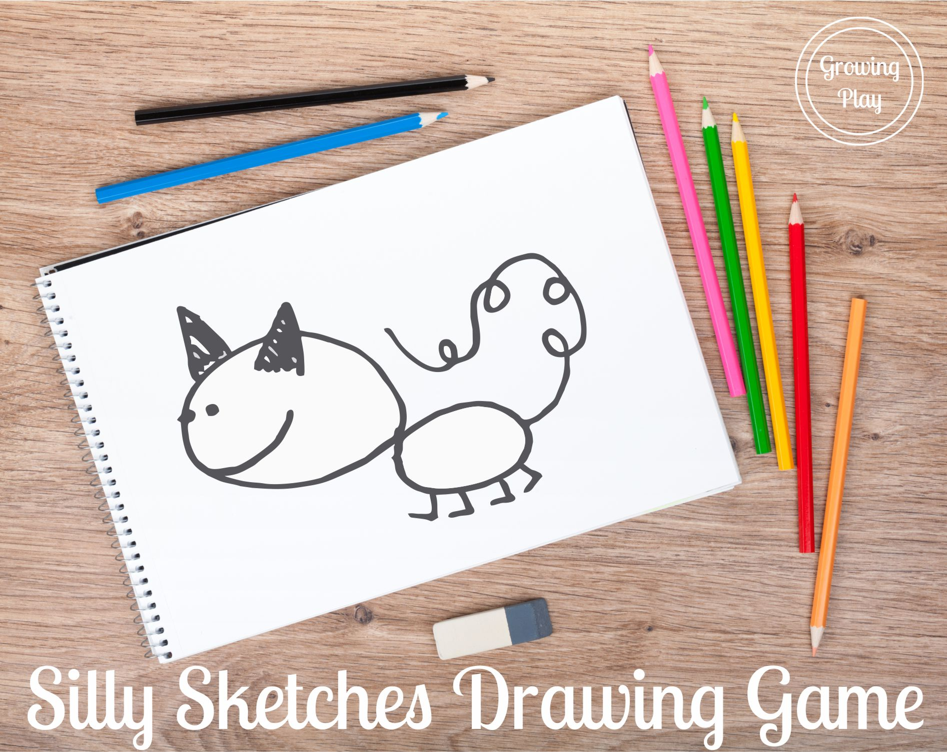Silly Sketches Pencil and Paper Drawing Game
