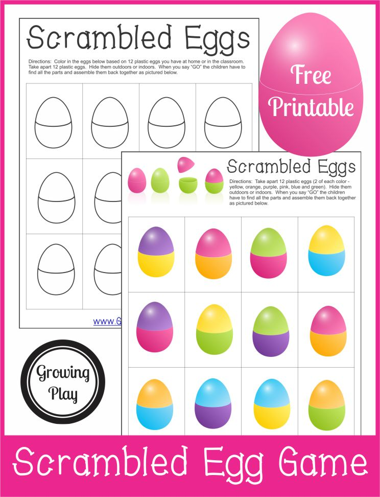 Scrambled Plastic Eggs Game - Growing Play