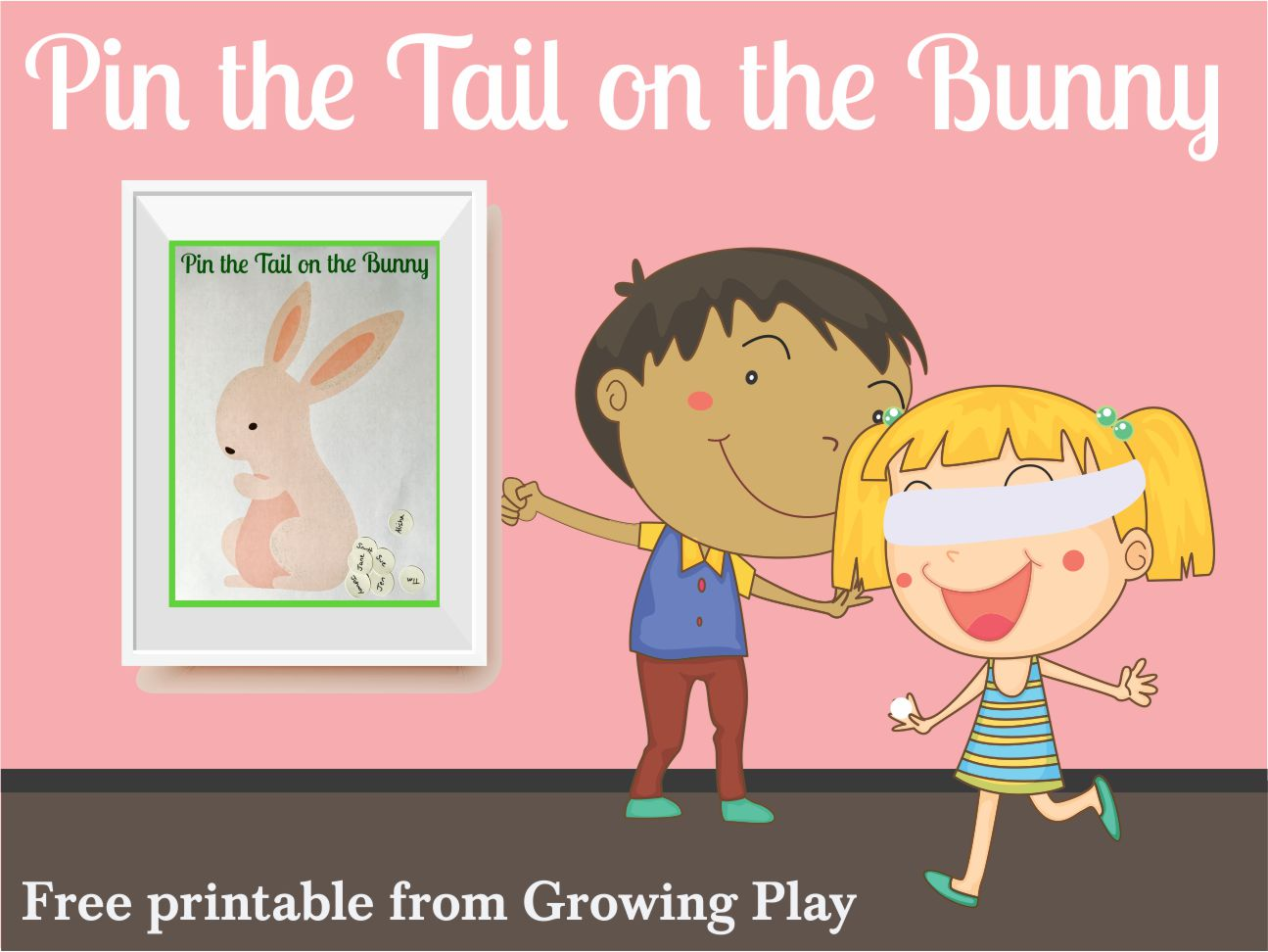 photograph relating to Pin the Tail on the Bunny Printable named Pin the Tail upon the Bunny Recreation - Totally free Printable - Increasing Enjoy