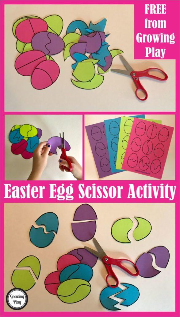 Easter Egg Scissor Activity 1