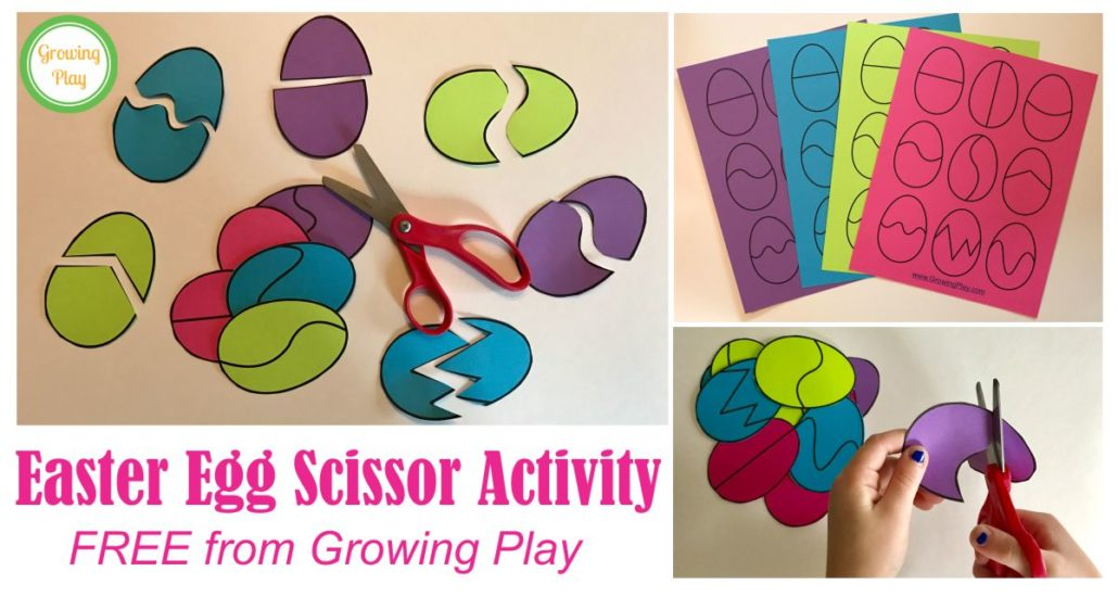 Easter Eggs Scissor Activity Growing Play