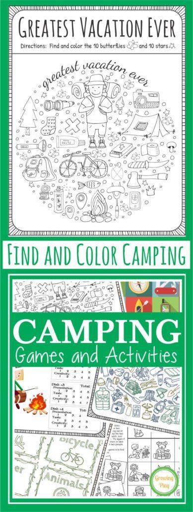 Camping Games Freebie 2