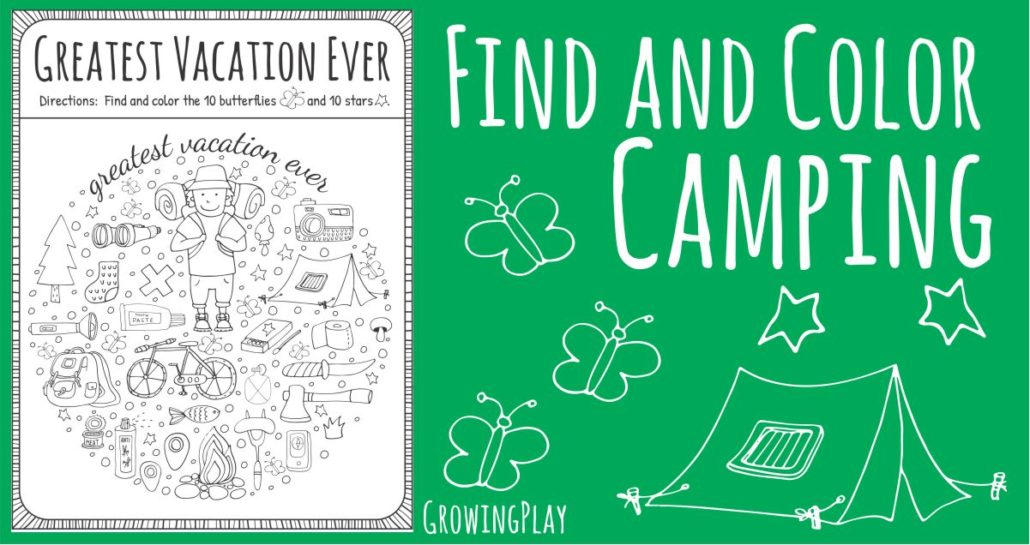 Camping Find and Color Freebie