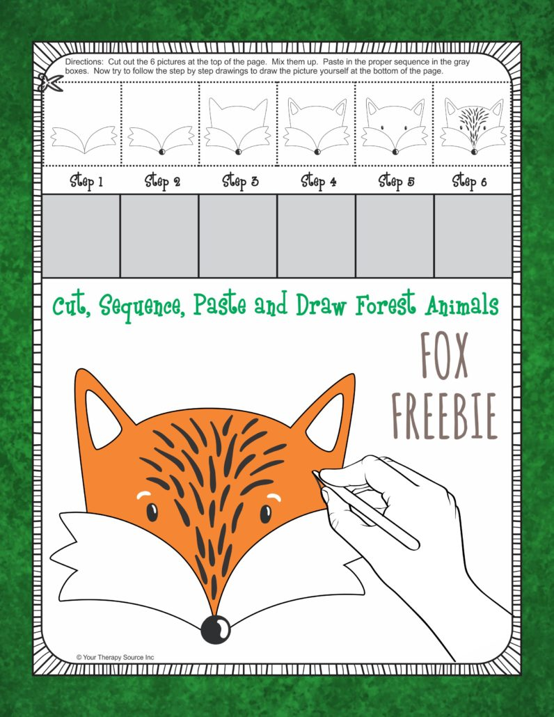 Cut Sequence Draw Forest Animal Freebie