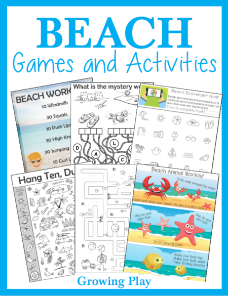 Puzzles, Mazes and More with a Beach Theme