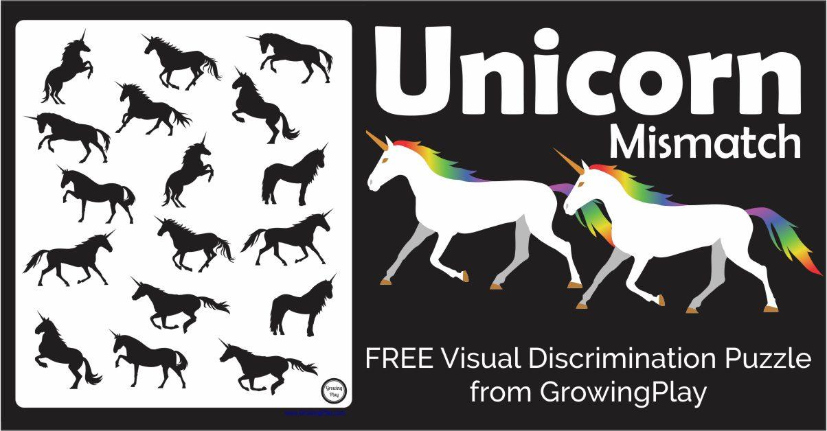 Unicorn Visual Discrimination Puzzle