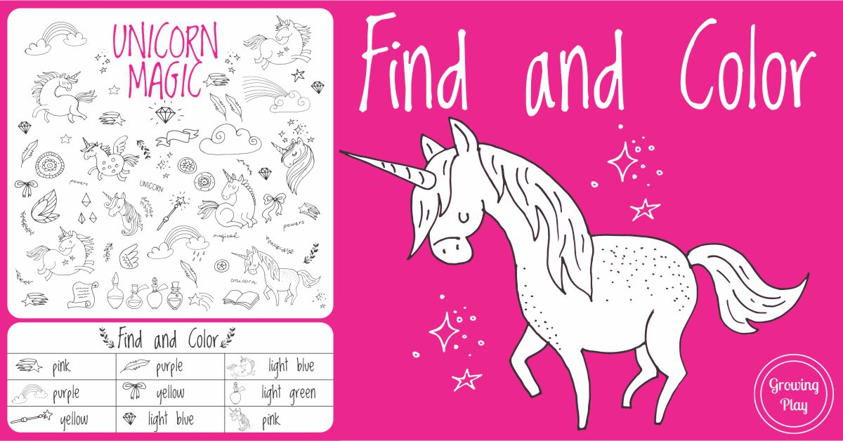 Unicorn Magic Find and Color