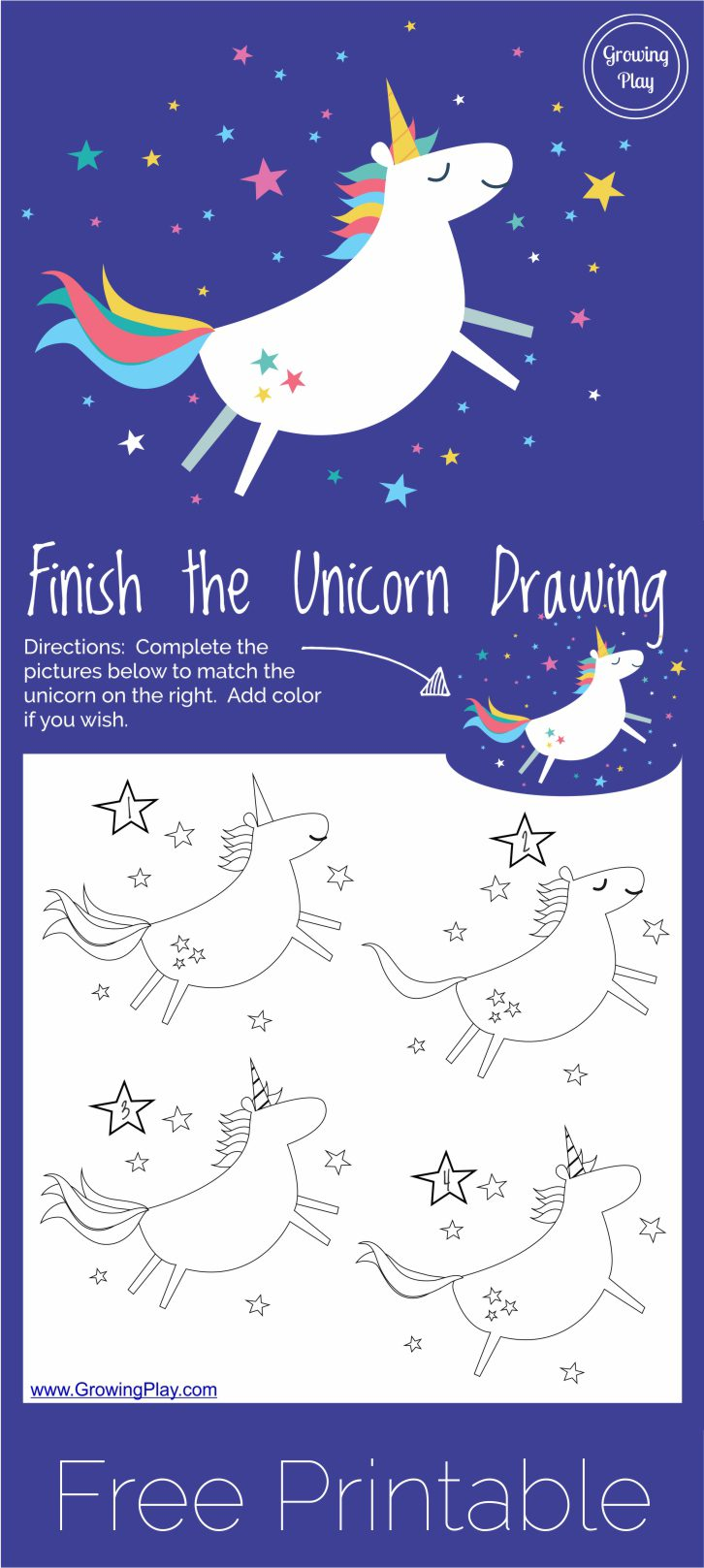 Finish the Unicorn Drawing