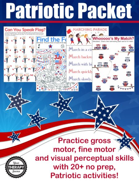 Patriotic Sensory Motor Packet