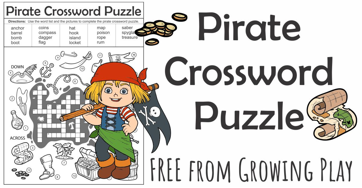 Pirate Crossword Puzzle