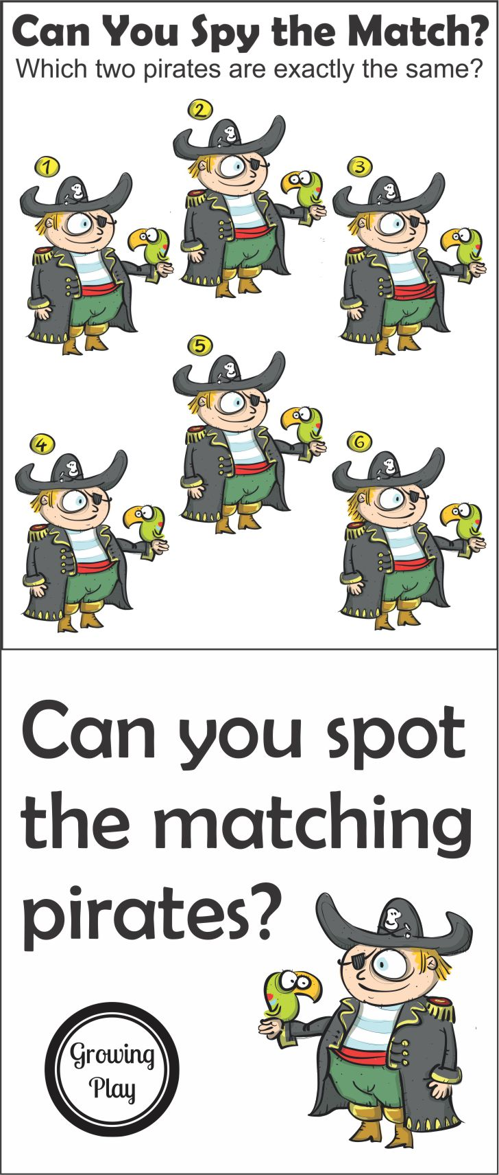 Matching Pirate Puzzle