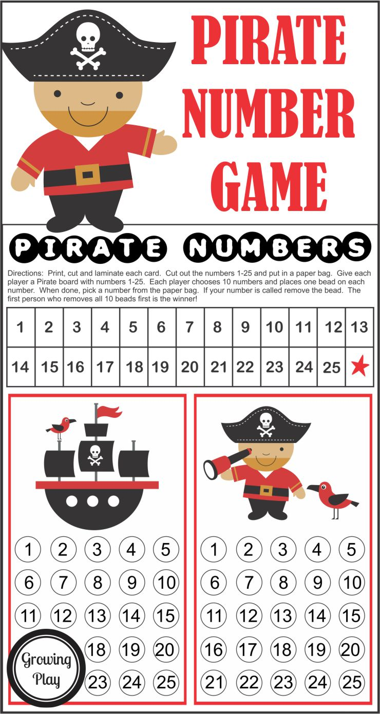 Pirate Numbers Game