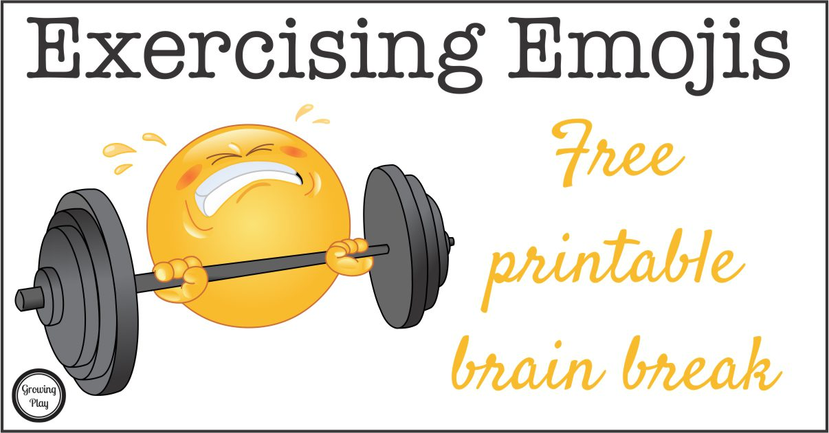 Exercising Emoji Brain Breaks