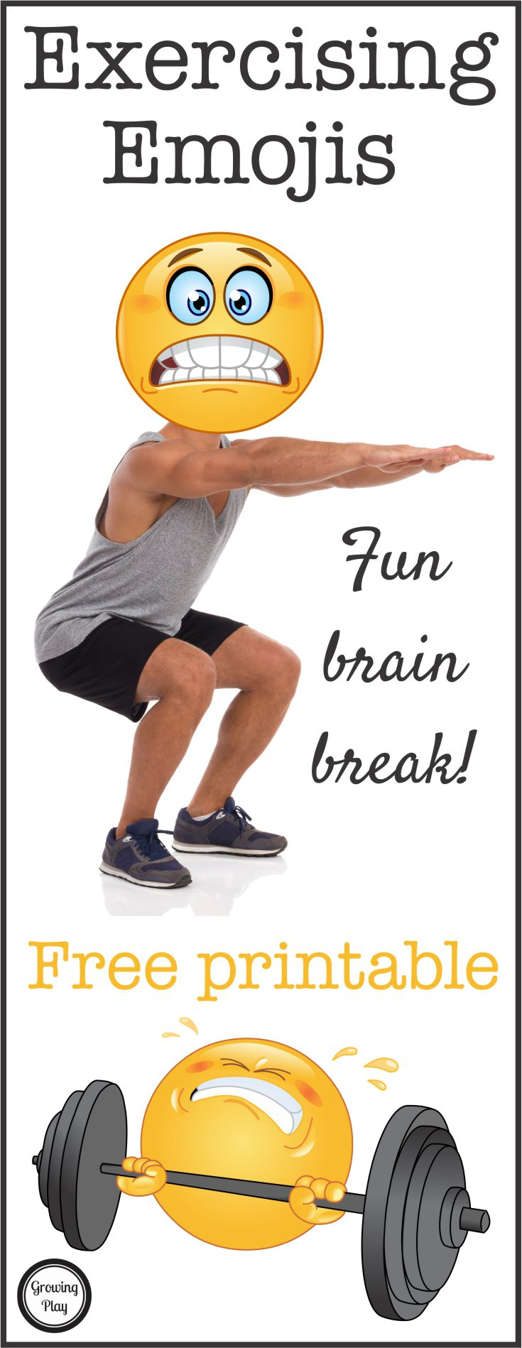 Exercising Emoji Brain Break