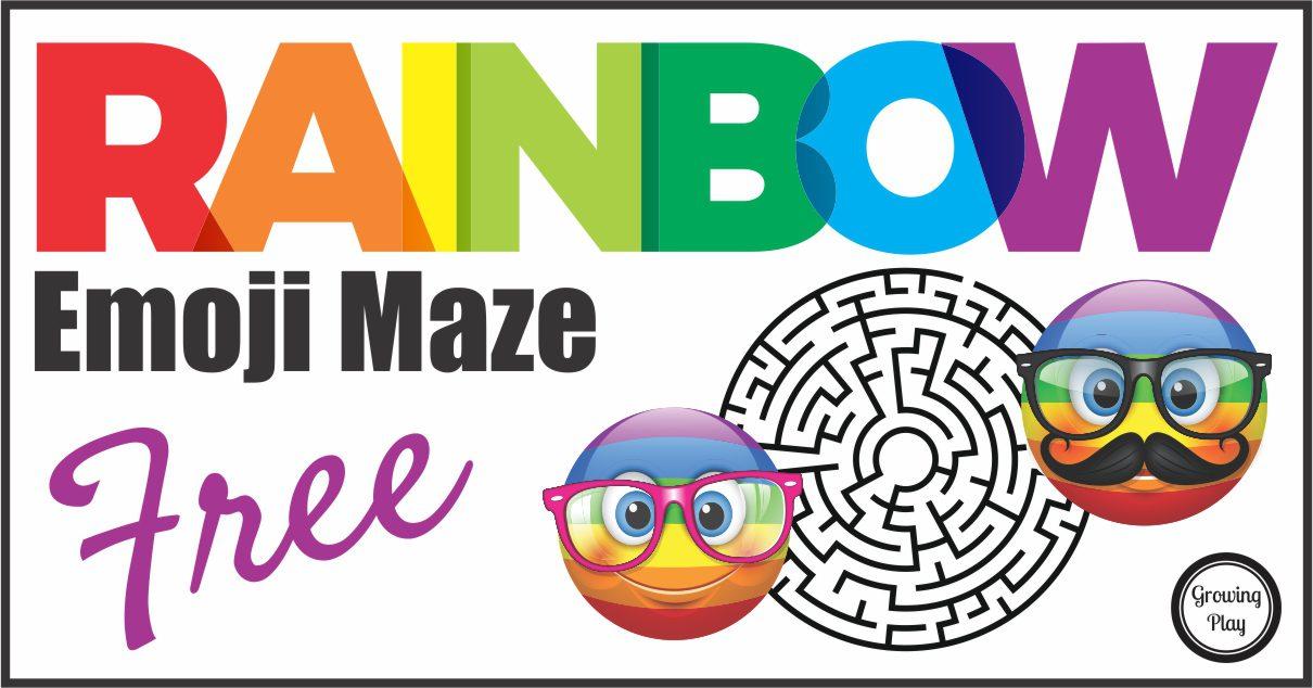 Rainbow Emoji Maze