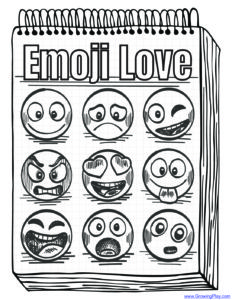 Emoji Coloring Page Growing Play