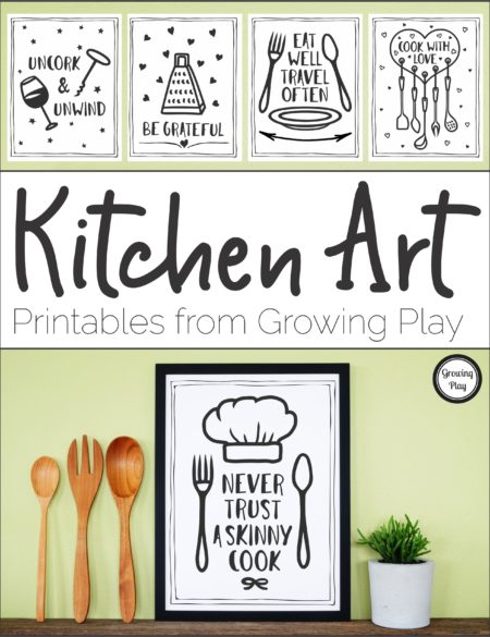 Kitchen Art from Growing Play