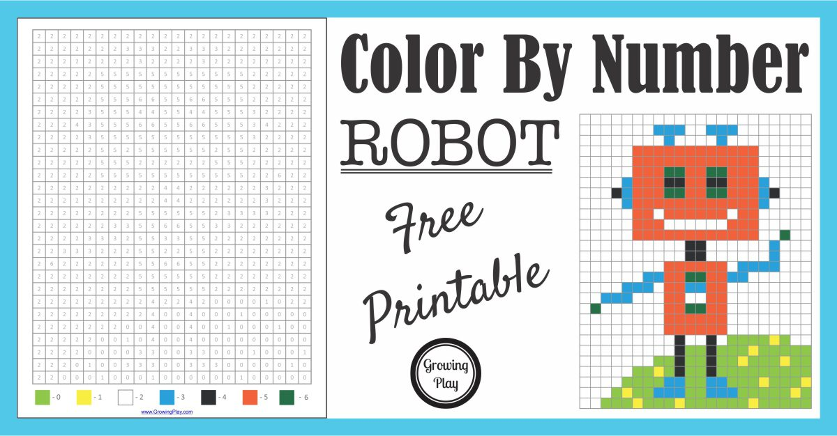 Color By Number Robot