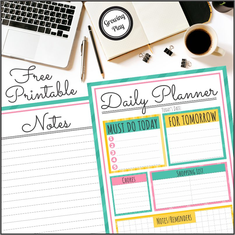 Getting Organized with a Daily Planner