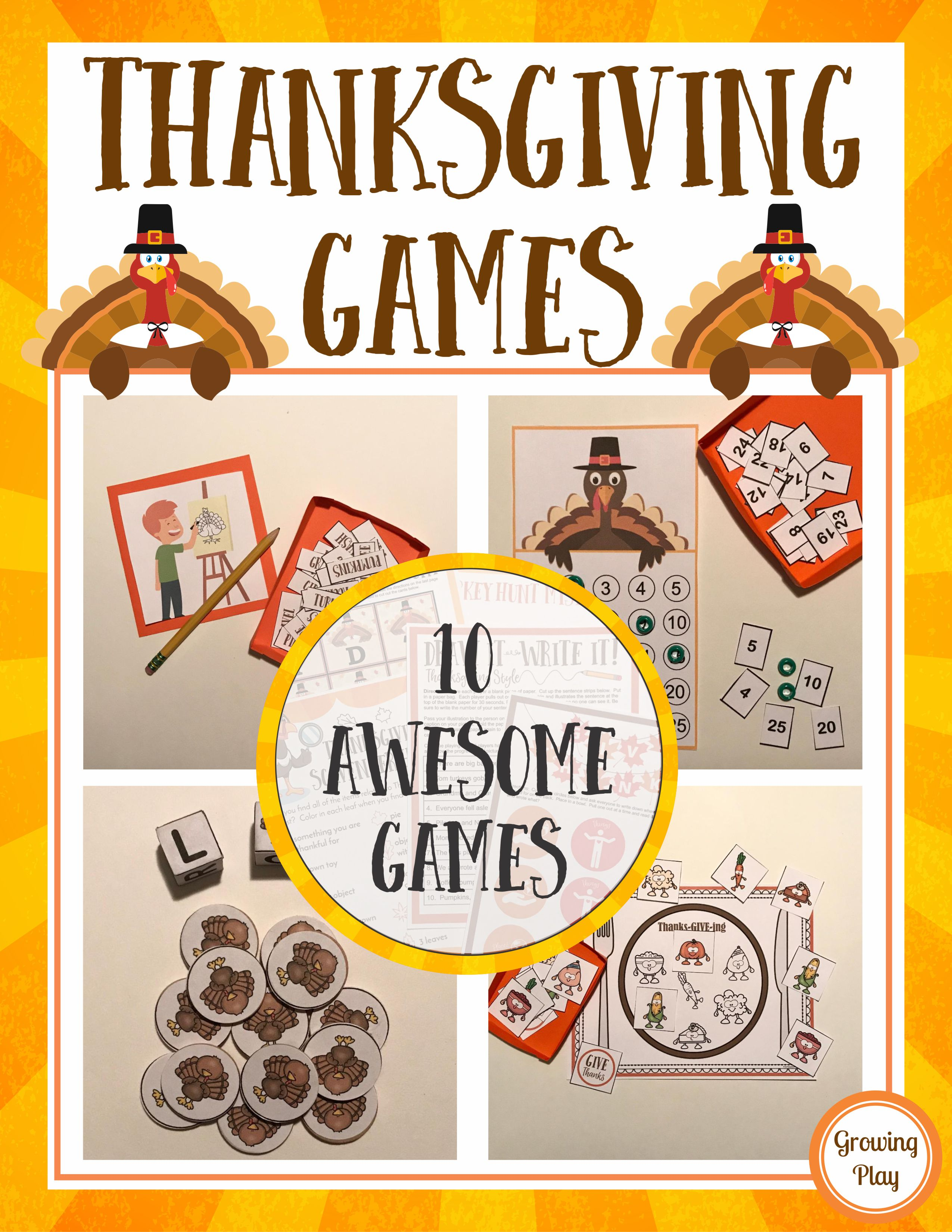 Thanksgiving Games - Family Fun, Classroom Parties and More